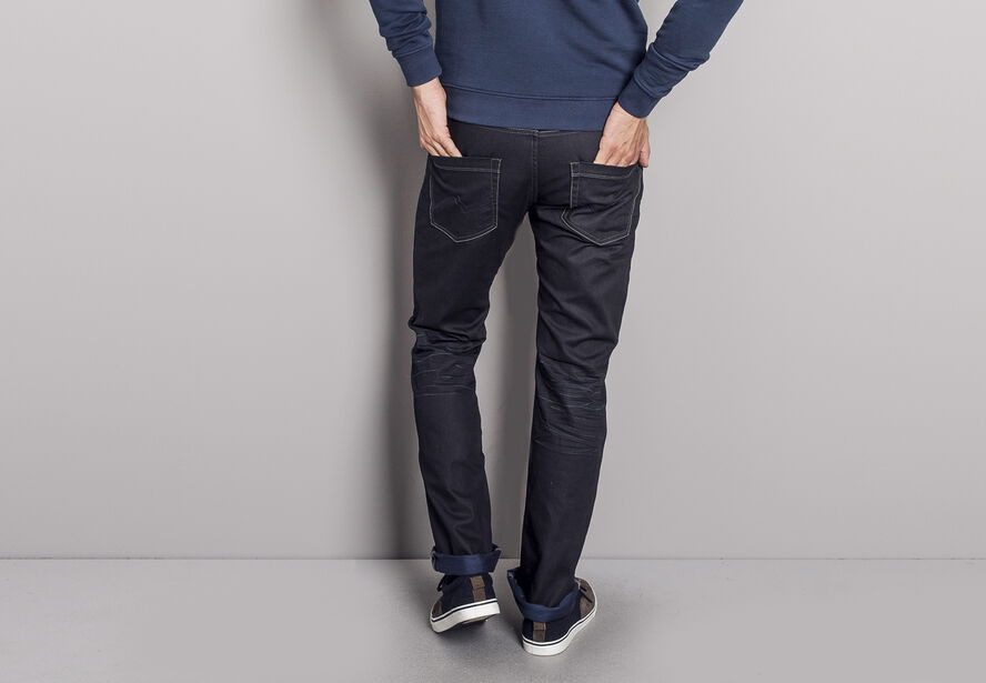 Jean regular brossé