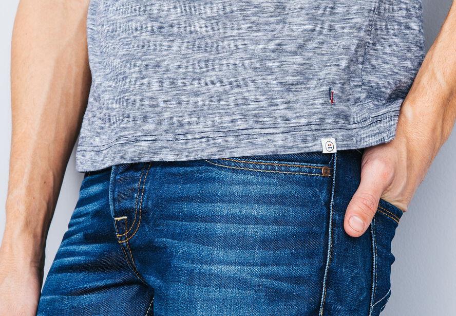 T-shirt poche contrastée Fabrication Française