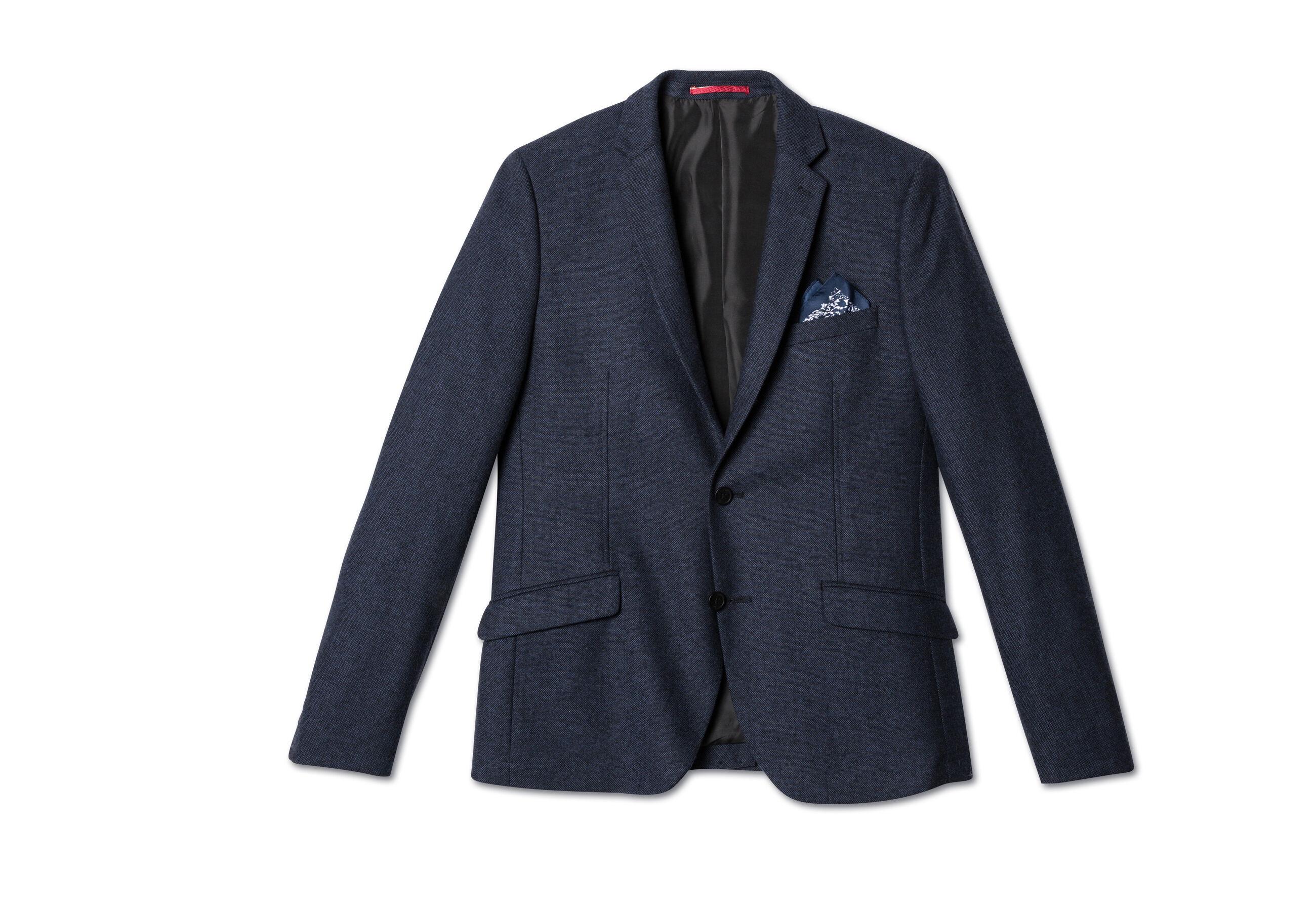 veste seule tweed bleu marine fantaisie homme jules. Black Bedroom Furniture Sets. Home Design Ideas