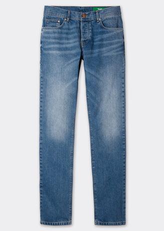 Jean regular bleu lumineux 4 longueurs