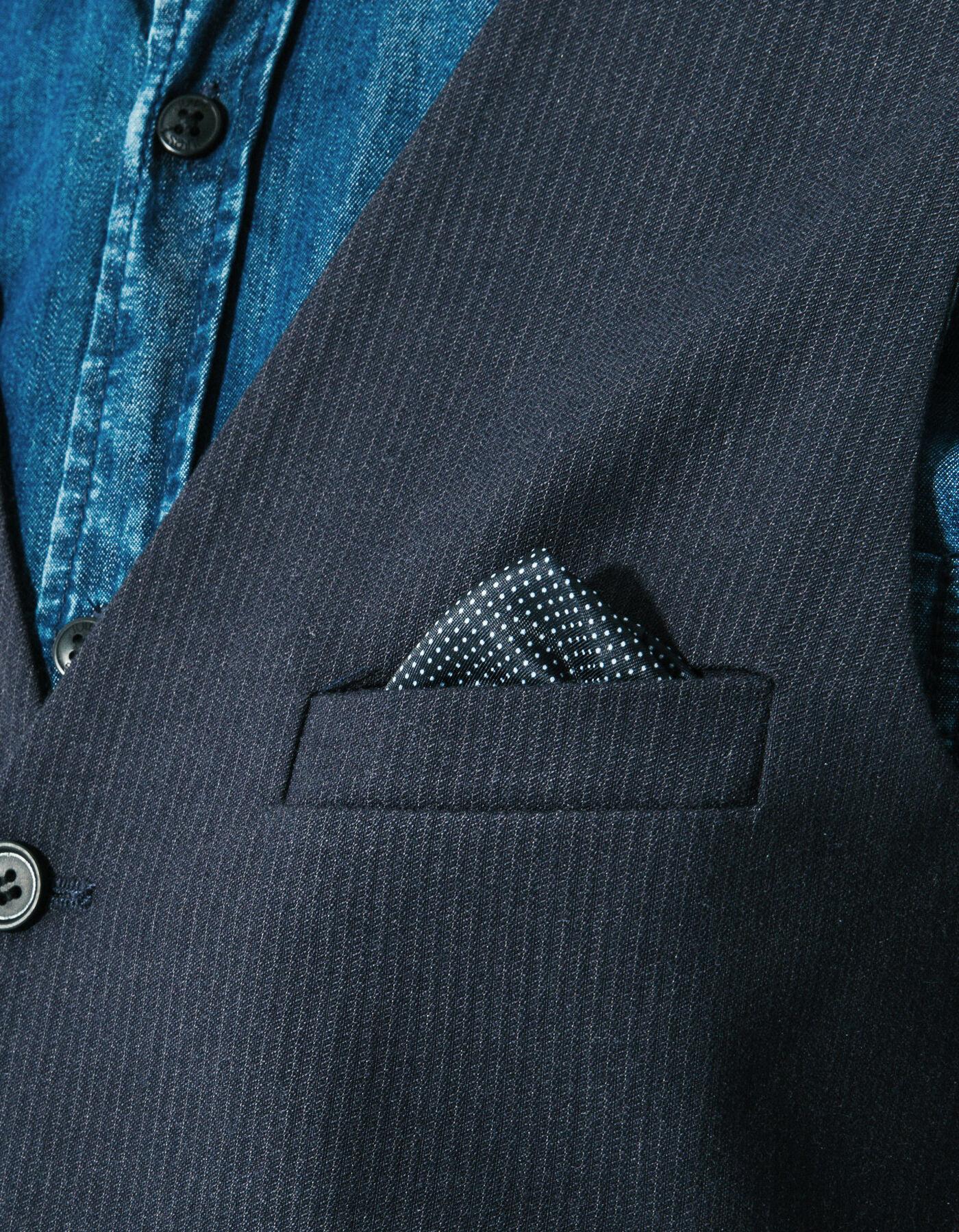 gilet de costume micro rayures bleu marine ray homme jules. Black Bedroom Furniture Sets. Home Design Ideas