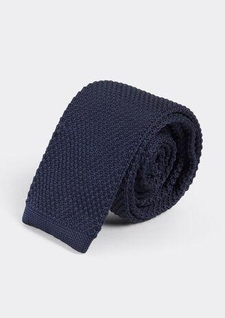 Cravate unie maille marine