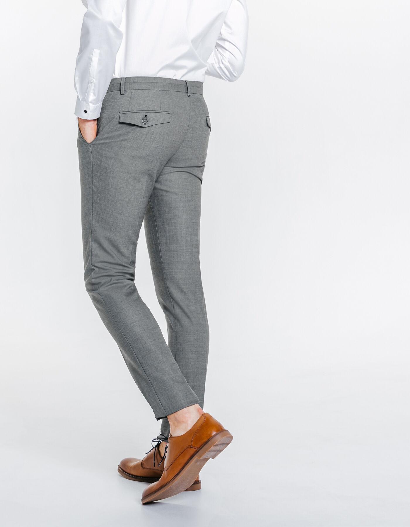 pantalon de costume extra slim gris clair homme jules. Black Bedroom Furniture Sets. Home Design Ideas