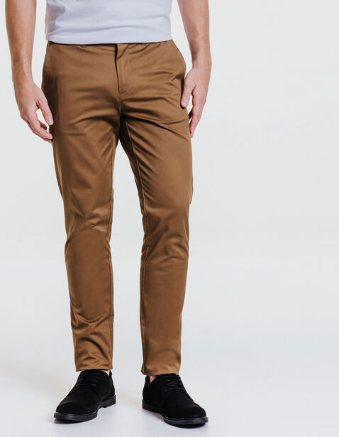 pantalon chino slim coton stretch camel homme jules. Black Bedroom Furniture Sets. Home Design Ideas
