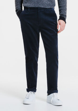 Chino straight velours