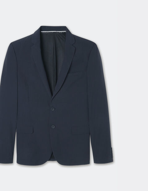 veste de costume slim technique bleu marine homme jules. Black Bedroom Furniture Sets. Home Design Ideas