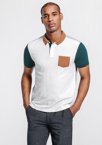 Polo homme coloré manches courtes