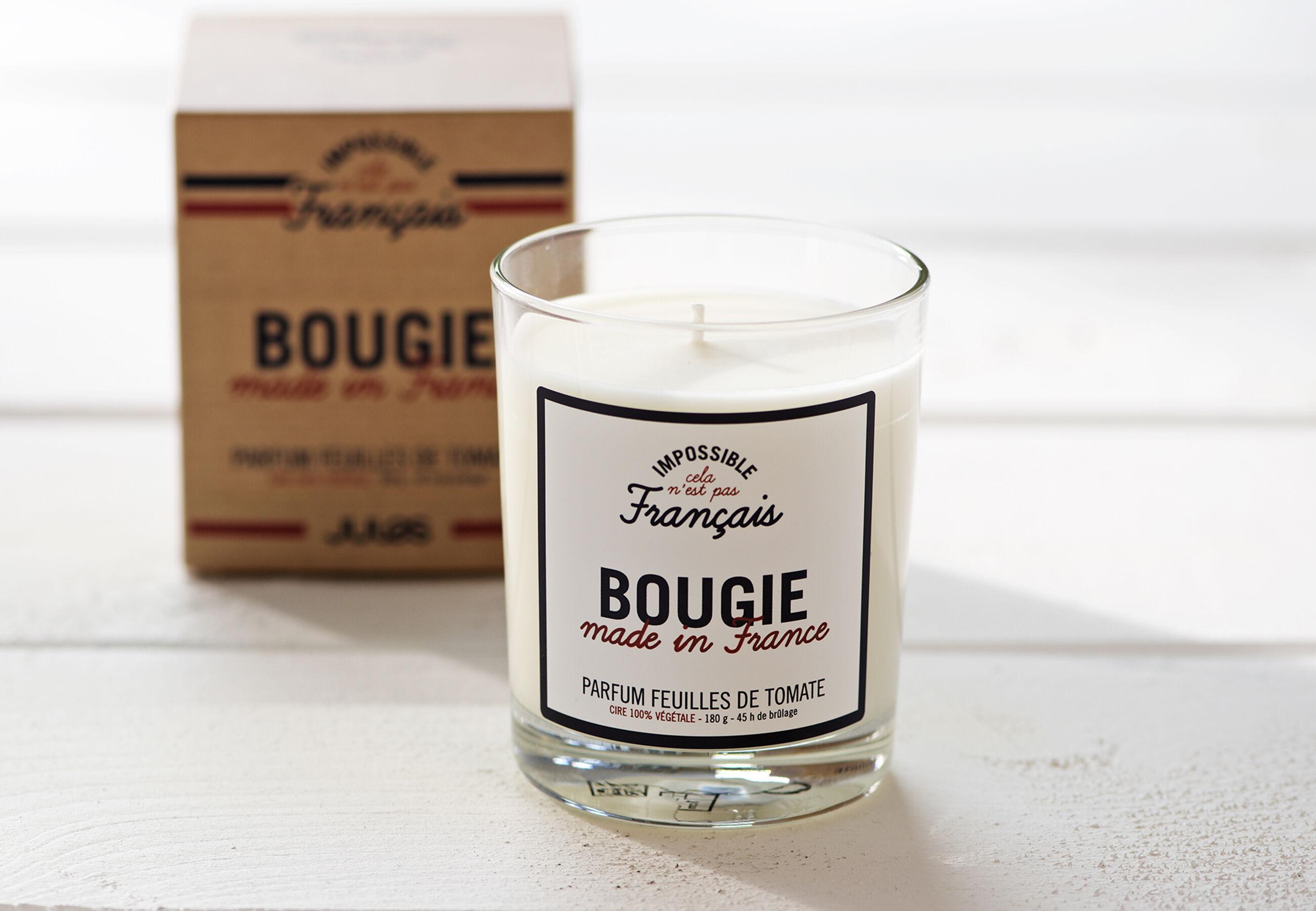 bougie made in france en cire v g tale ecru homme jules. Black Bedroom Furniture Sets. Home Design Ideas