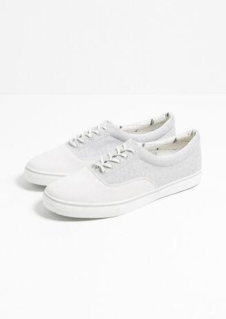 Sneaker Basse Canvas Et Chevrons