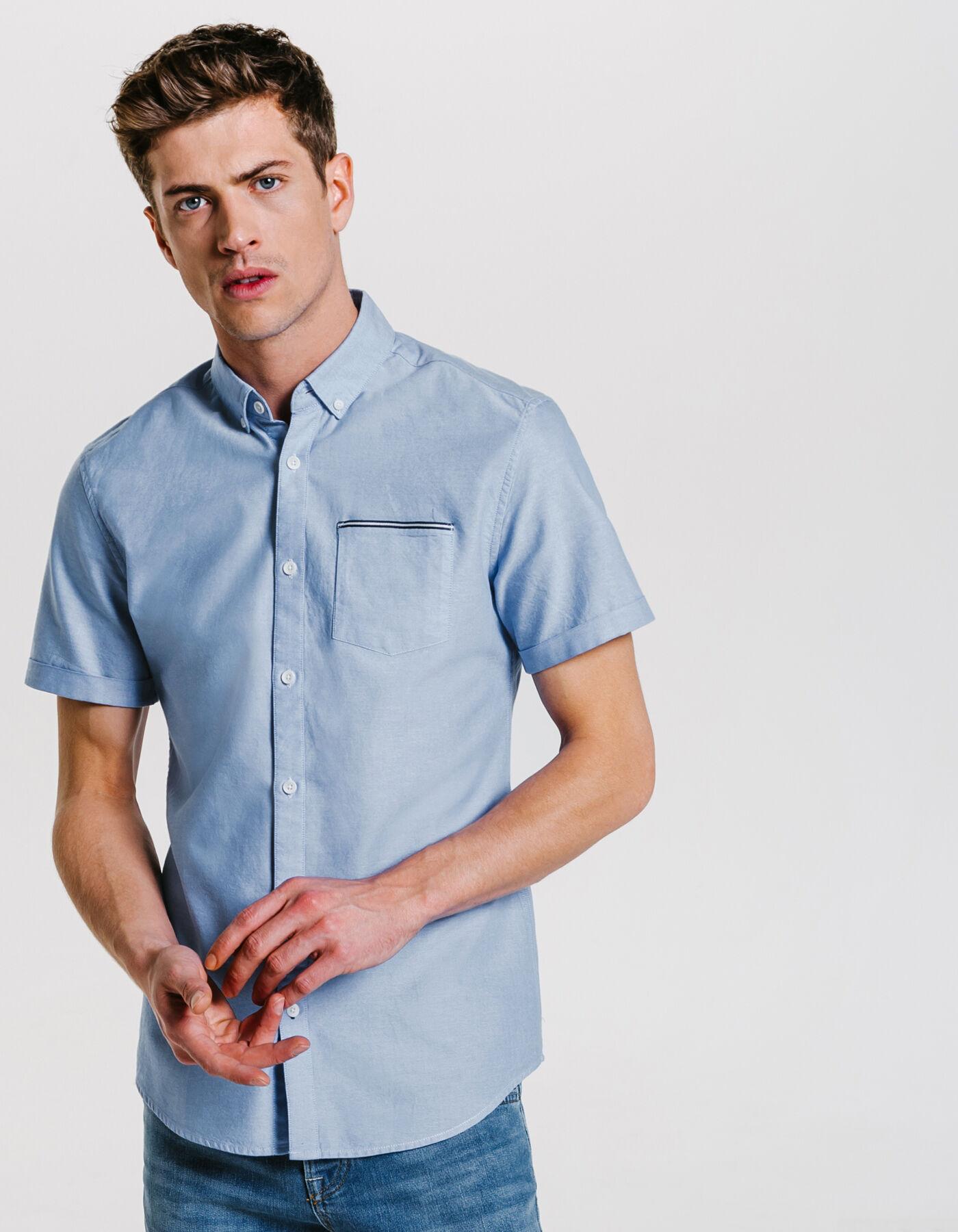 chemise oxford manches courtes bleu ciel homme jules. Black Bedroom Furniture Sets. Home Design Ideas