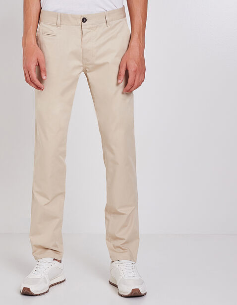 pantalon chino straight coton bio beige homme jules. Black Bedroom Furniture Sets. Home Design Ideas