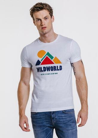 Tee-shirt col rond imprimé WILDWORLD