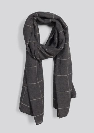 Chèche motifs carreaux minimalistes. Taille unique