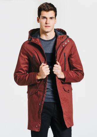 Parka longue fish tail