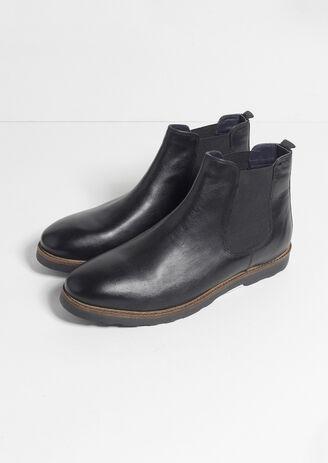 Boots Cavalière Cuir