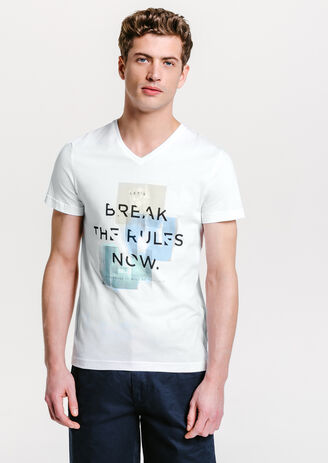 Tee shirt imprimé break the rules