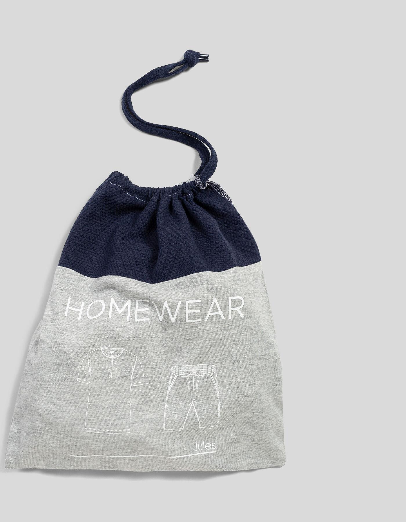 pyjama homme bicolore gris bleu marine bleu marine homme. Black Bedroom Furniture Sets. Home Design Ideas