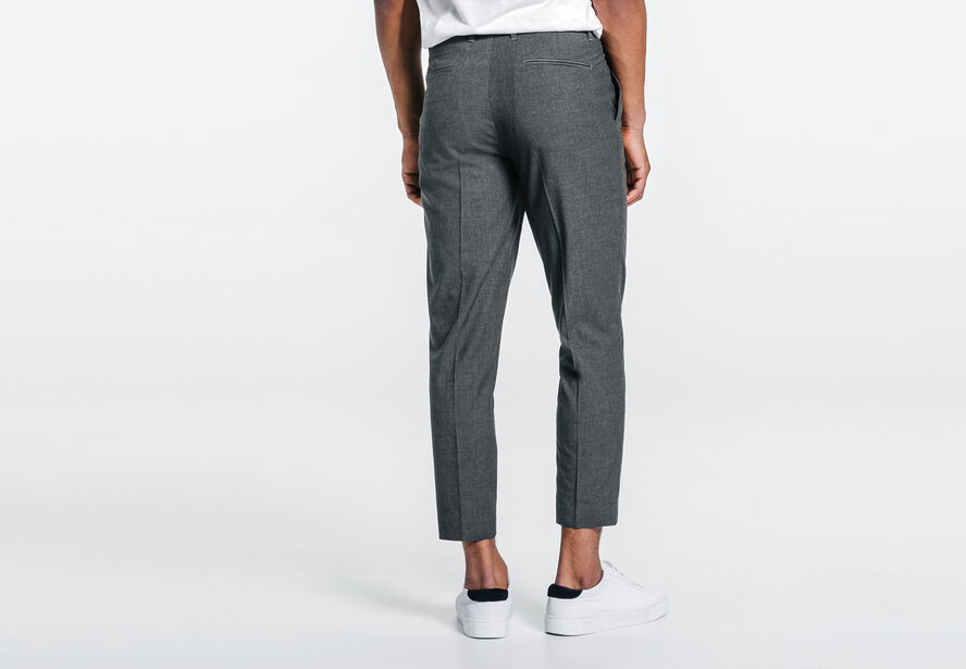pantalon pinces cropped gris homme jules. Black Bedroom Furniture Sets. Home Design Ideas