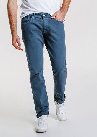 5 poches straight lavé couleur