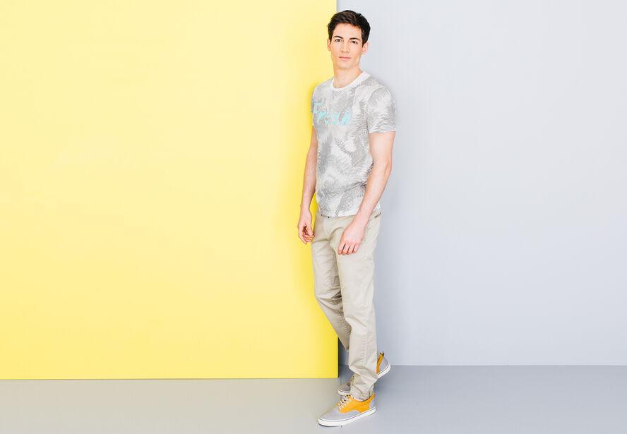 """T-shirt col rond imprimé """"Fresh"""""""