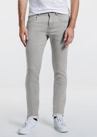 Jean slim urbanflex gris clair