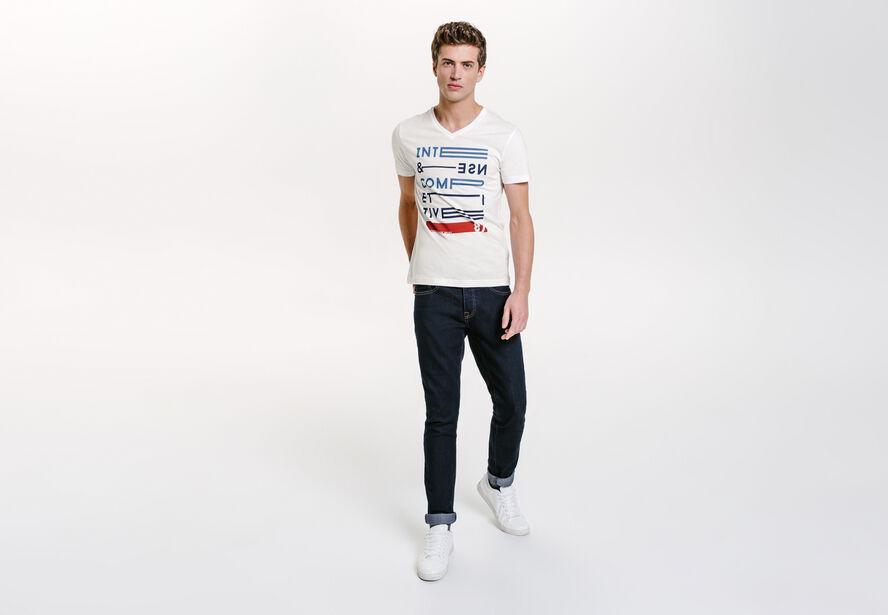 Tee shirt imprimé esprit sport