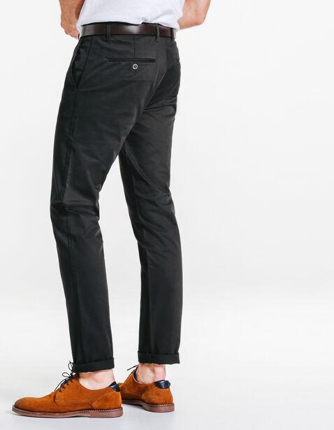 pantalon chino slim coton stretch noir homme jules. Black Bedroom Furniture Sets. Home Design Ideas