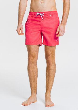 Short de bain homme court motif color block