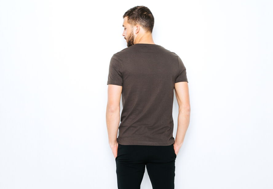 T-shirt col V imprimé Stockholm