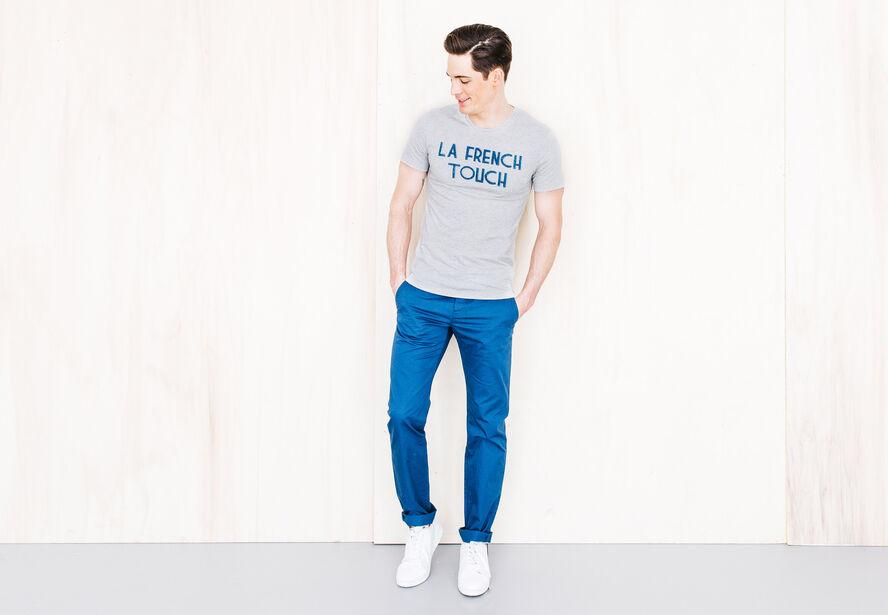 T-shirt col rond imprimé Fabrication Française
