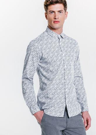 Hemd met print, slim