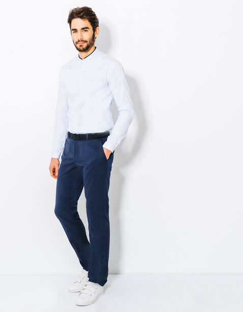 Pantalon de costume slim détail poche arrière