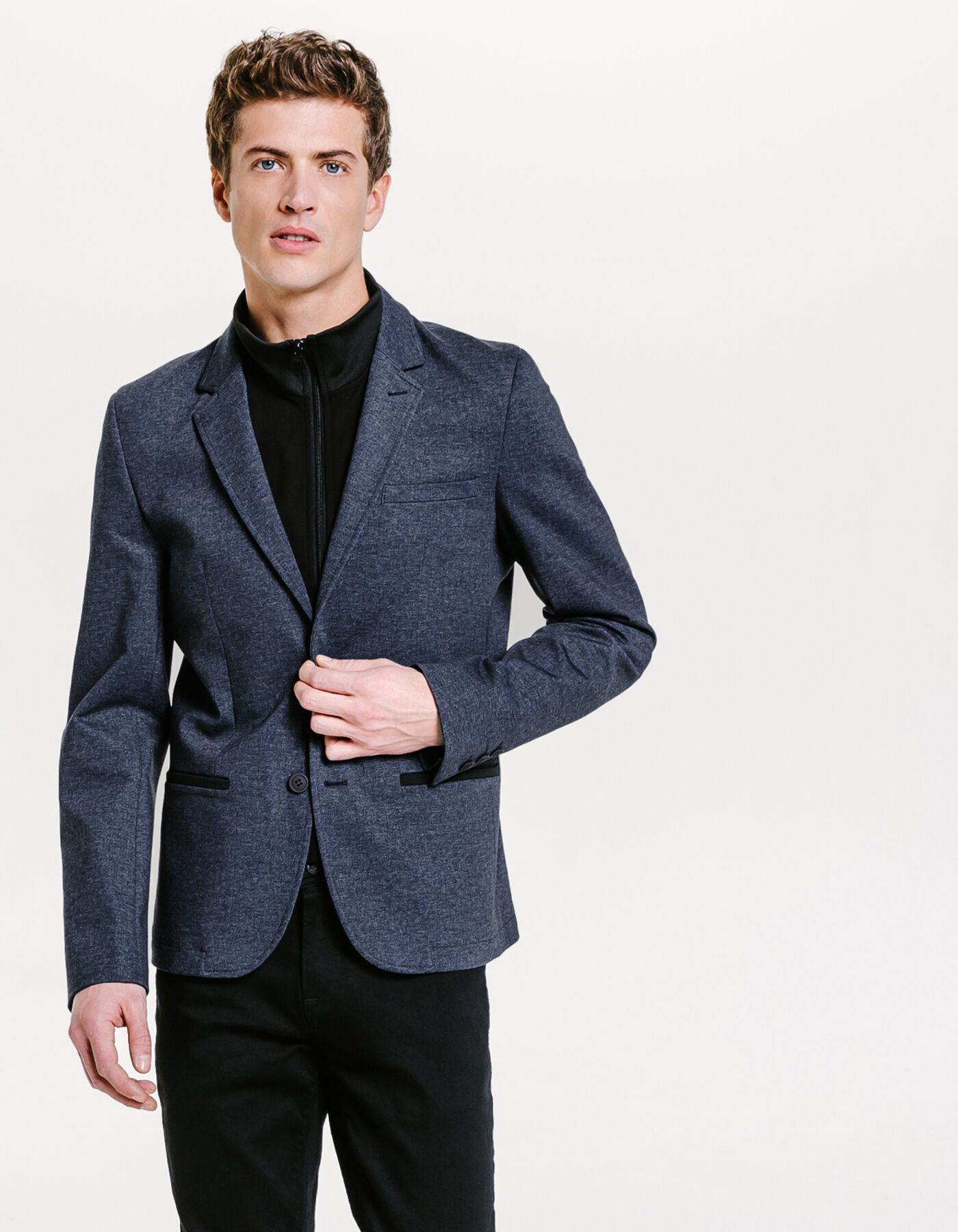 blazer homme chez jules veste blazer homme avec ecusson. Black Bedroom Furniture Sets. Home Design Ideas