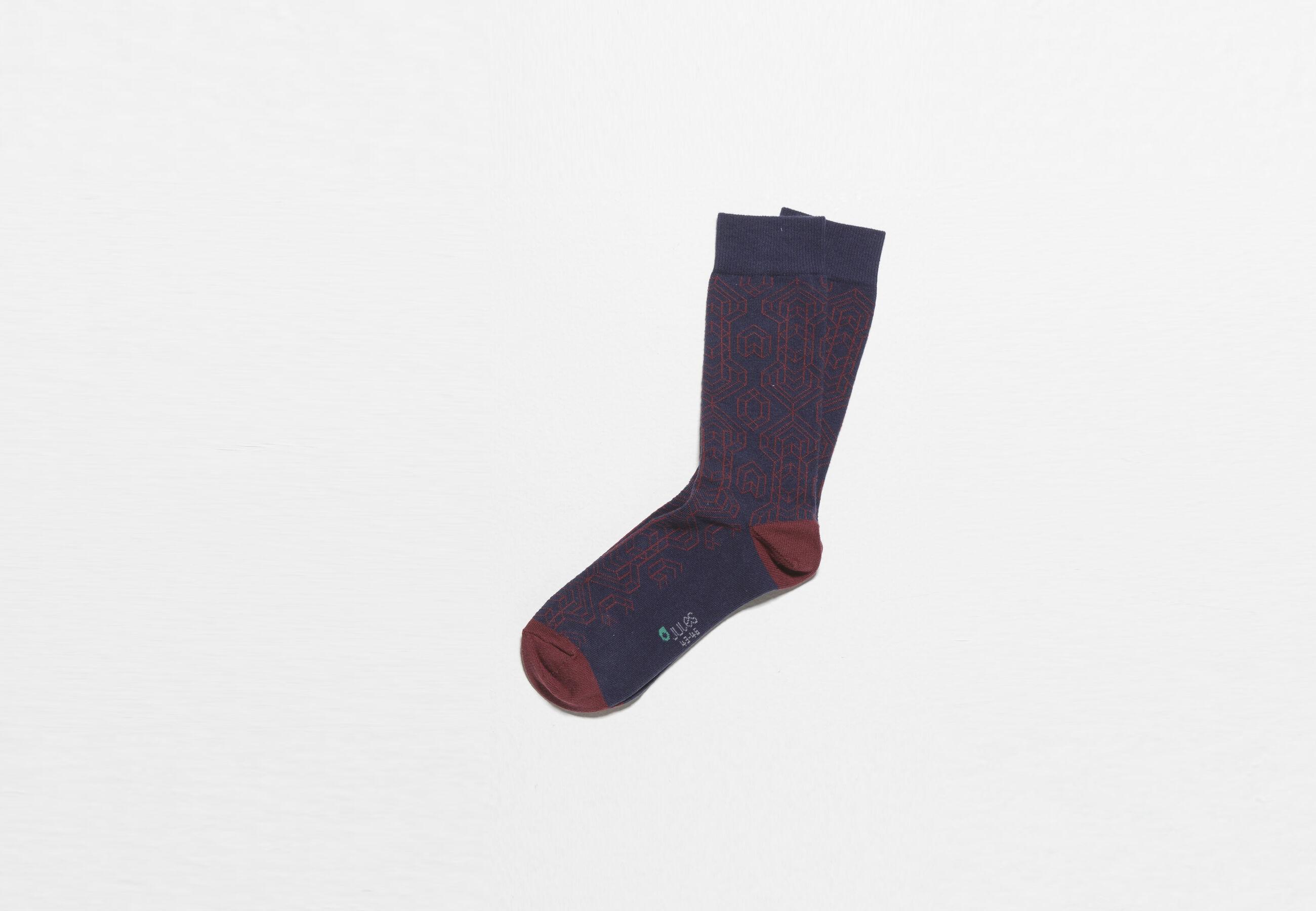 chaussettes unitaire graphique bordeau fantaisie homme jules. Black Bedroom Furniture Sets. Home Design Ideas