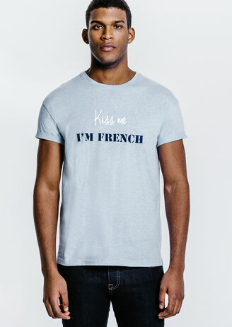 Tee shirt mixte Kiss Me I'm French