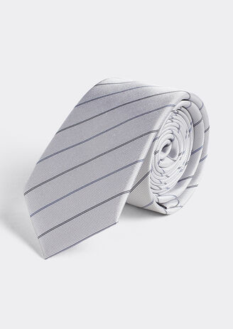 Cravate Rayée en Soie