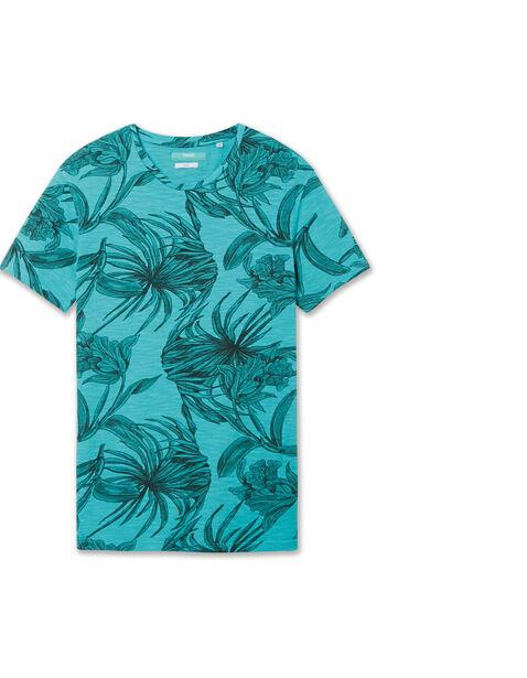 Tee shirt imprimé fleurs pixel