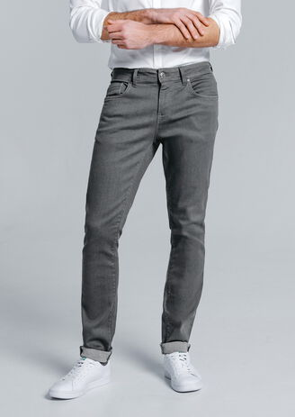 Jean slim Urban flex gris
