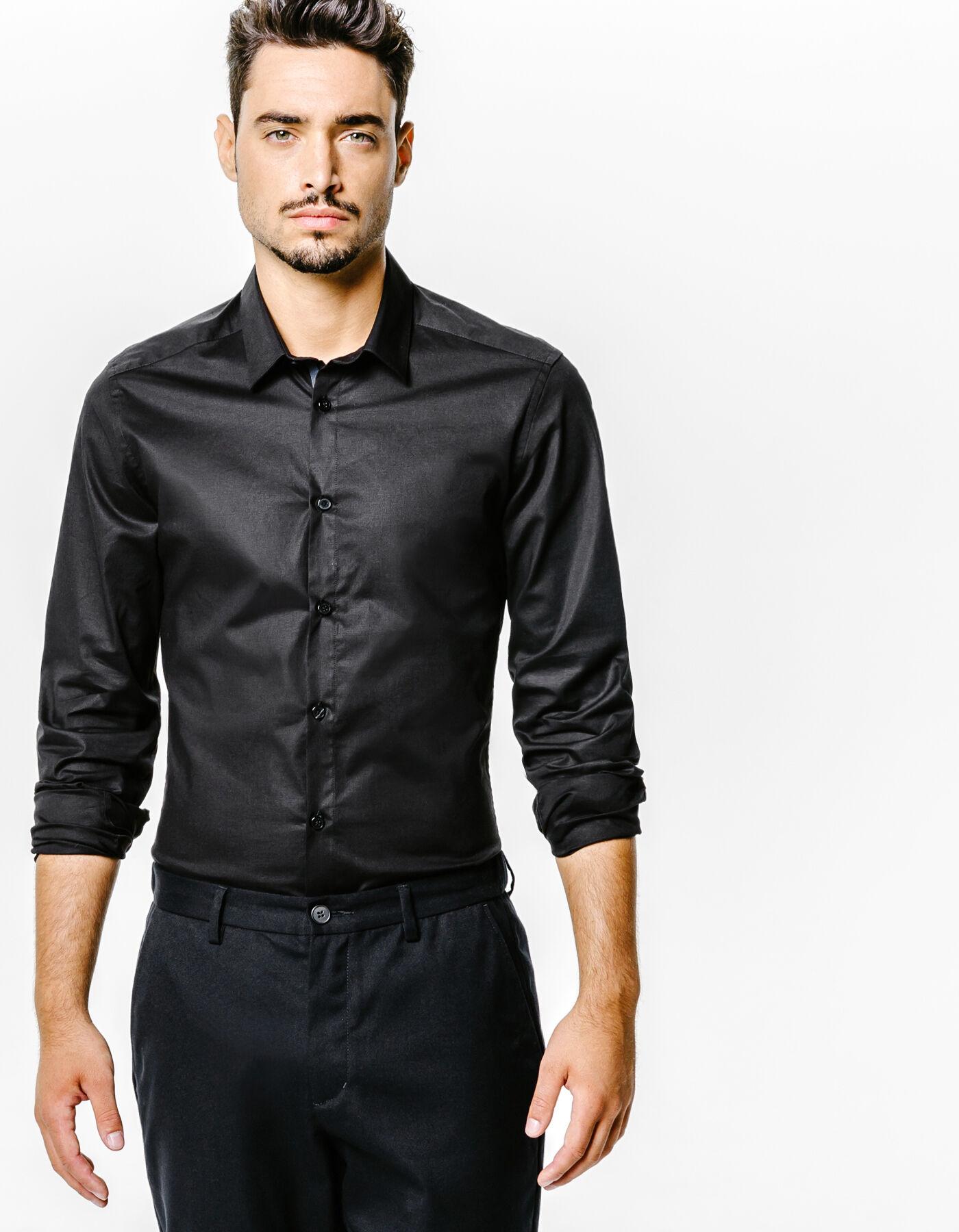 chemise extra slim unie noir homme jules. Black Bedroom Furniture Sets. Home Design Ideas