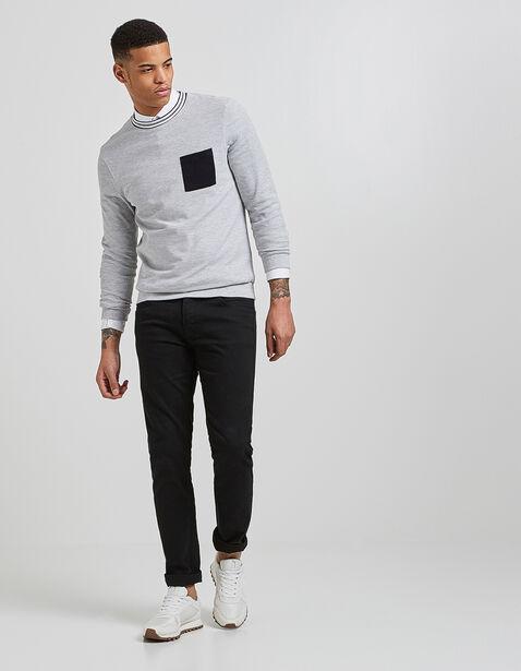tee shirt manche longue en piqué lourd