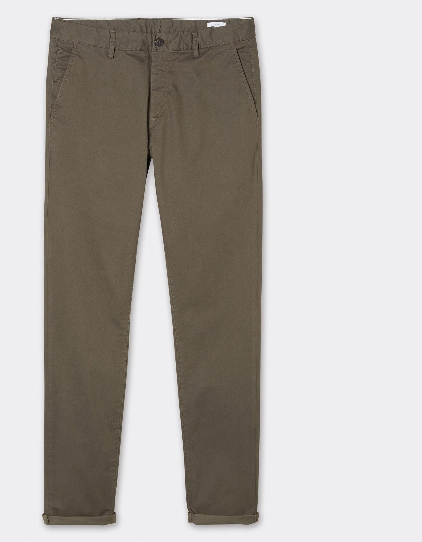 pantalon chino slim coton stretch kaki homme jules. Black Bedroom Furniture Sets. Home Design Ideas