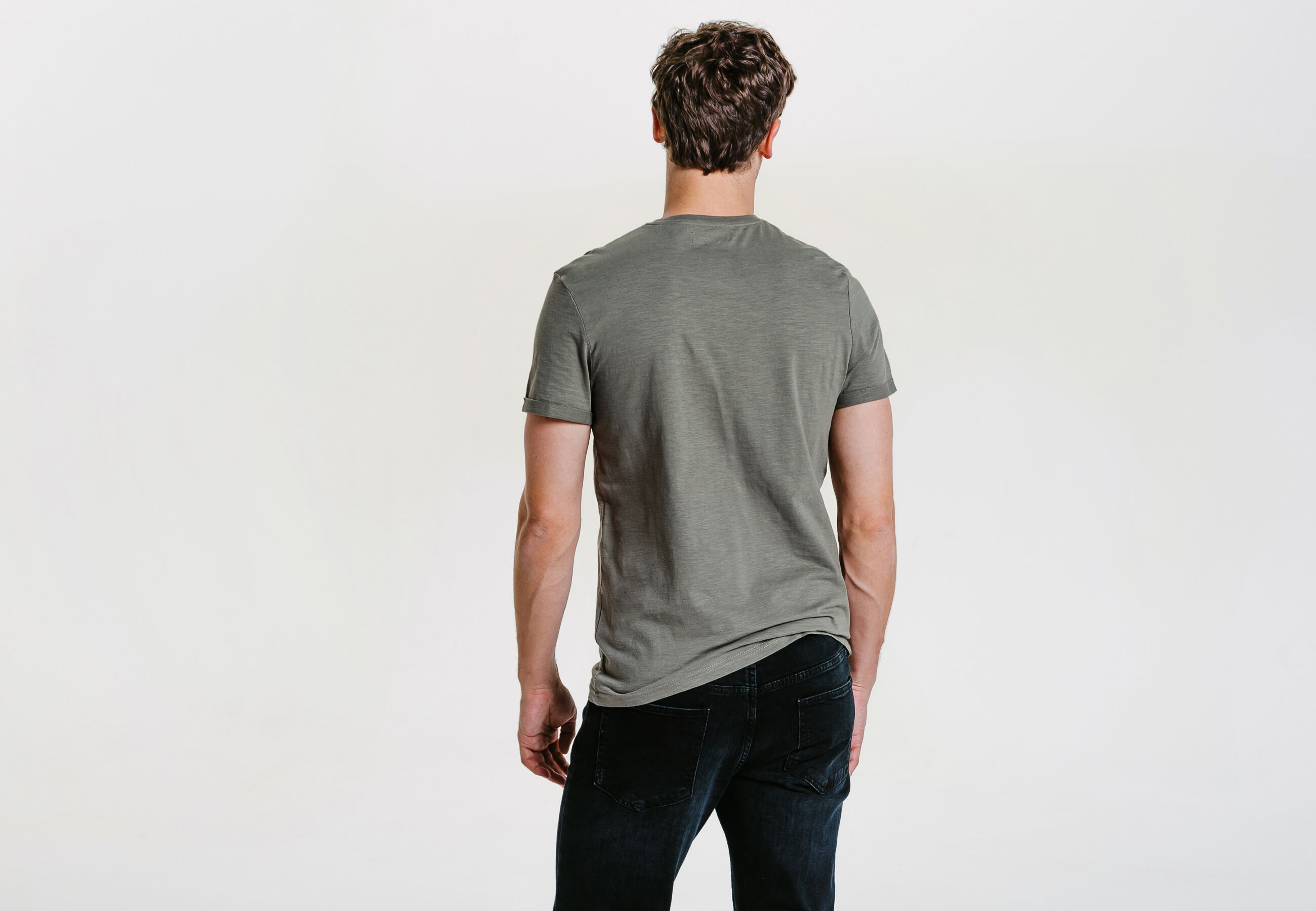 tee shirt col rond uni vert homme jules. Black Bedroom Furniture Sets. Home Design Ideas