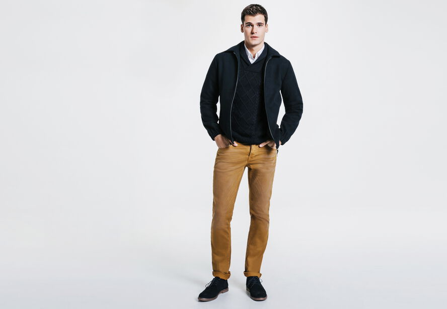 Pantalon 5 poches straight lavé
