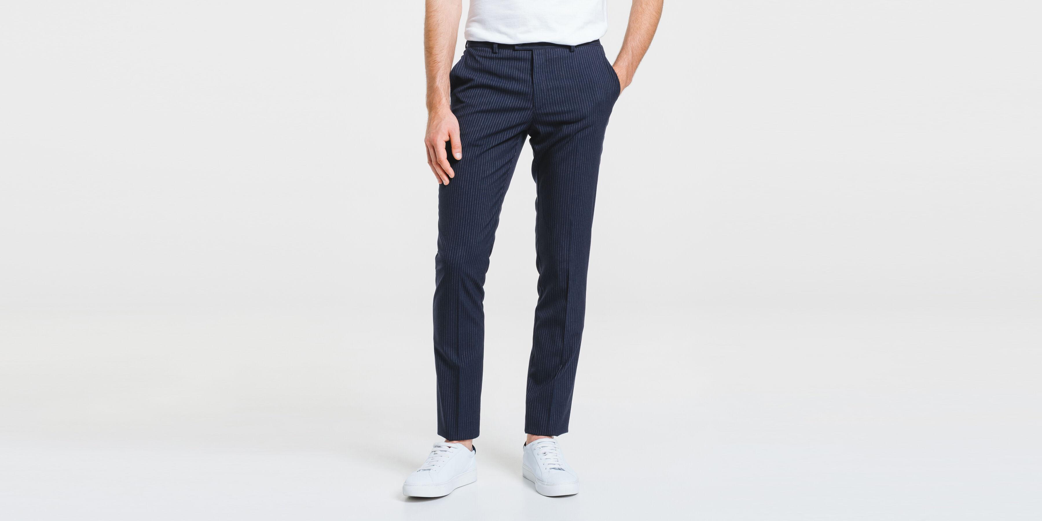 Pantalon de costume rayé extra slim.