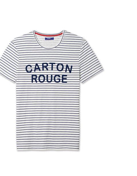 Tee shirt rayé Carton Rouge