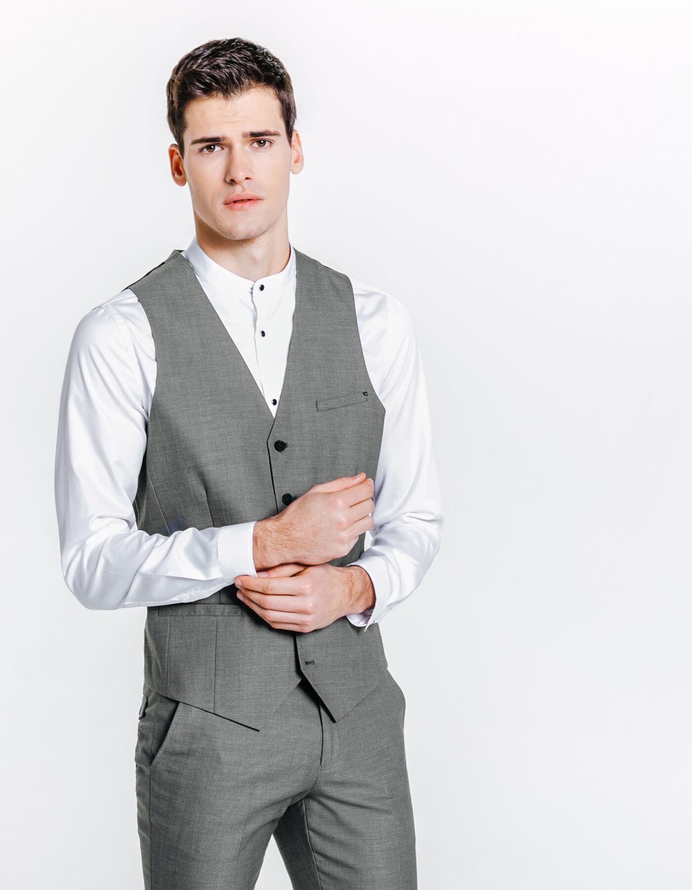 gilet de costume gris clair homme jules. Black Bedroom Furniture Sets. Home Design Ideas