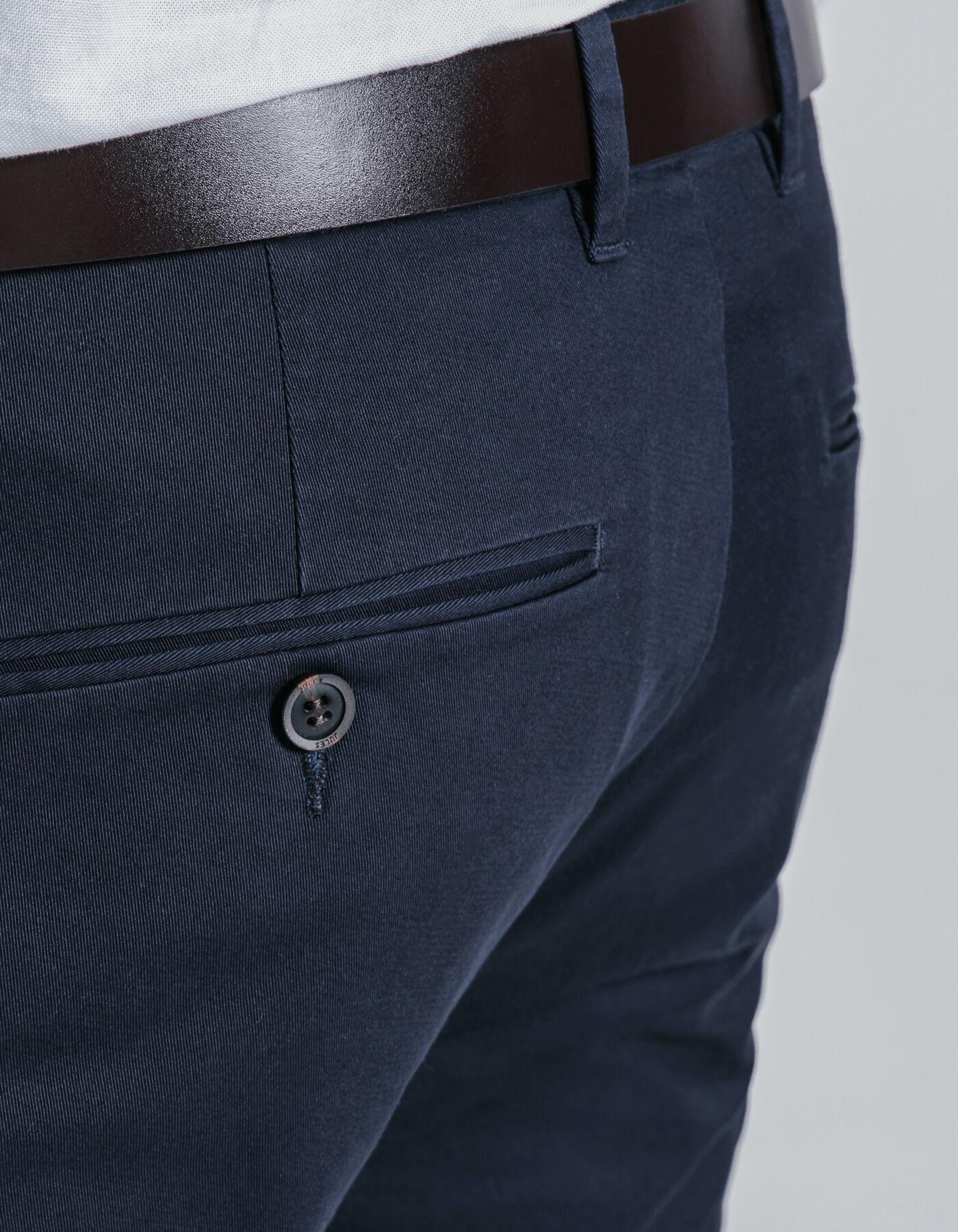 pantalon chino slim coton stretch bleu marine homme jules. Black Bedroom Furniture Sets. Home Design Ideas