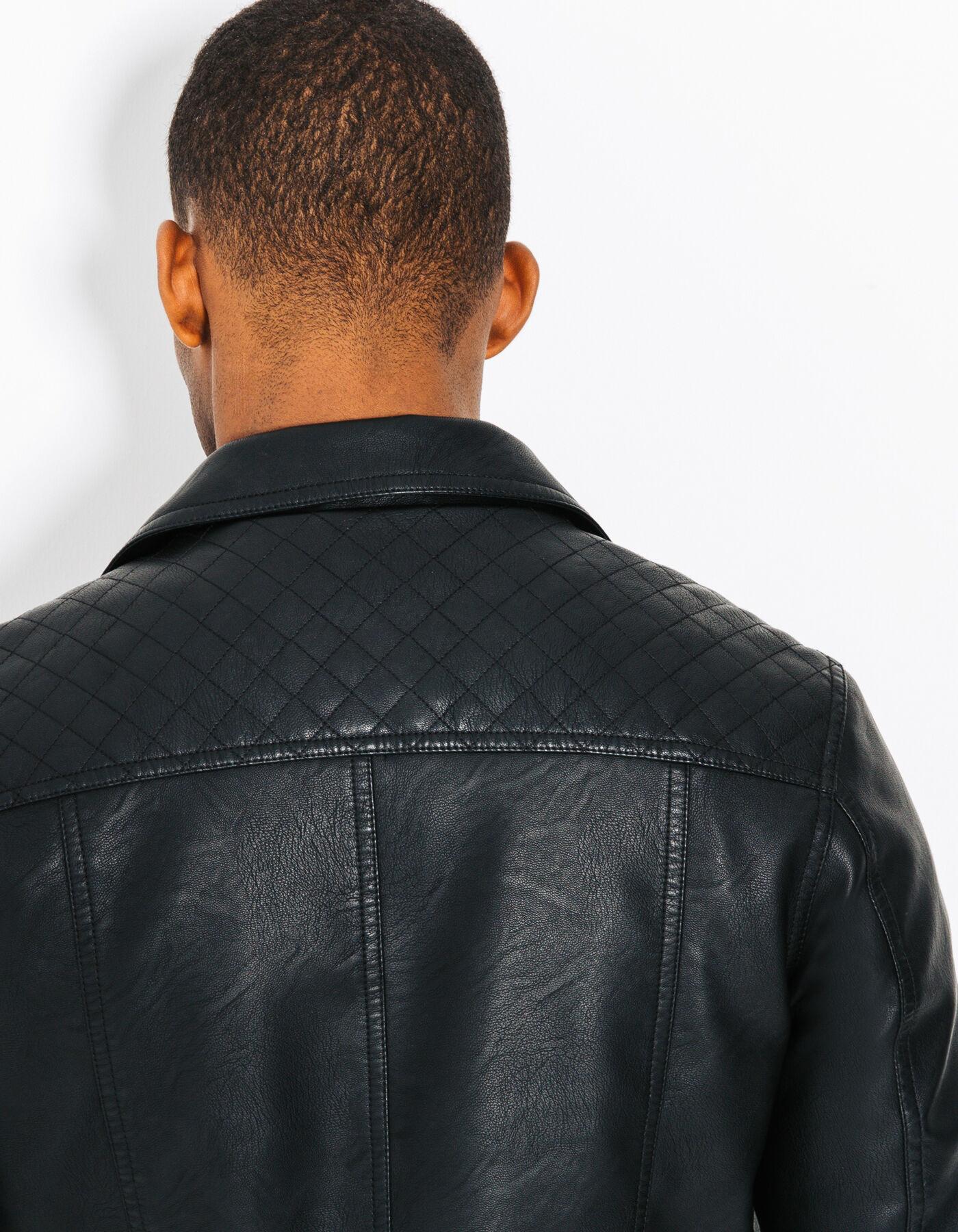 veste simili cuir style perfecto noir homme jules. Black Bedroom Furniture Sets. Home Design Ideas