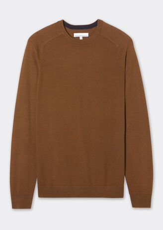 Pull col rond uni manches marteaux