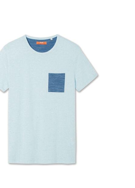 T-shirt ronde hals contrasterende zak